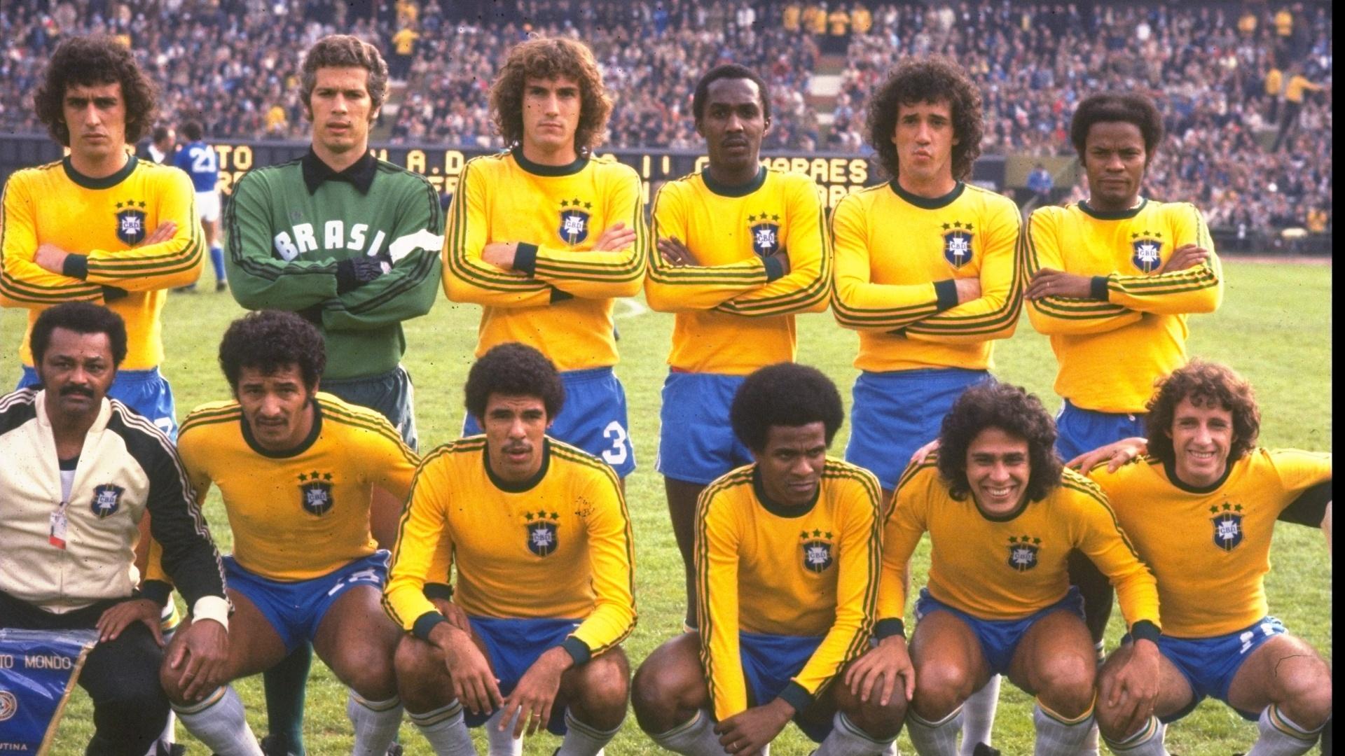 Seleção brasileira antes da partida contra a Itália na decisão do terceiro lugar da Copa do Mundo de 1978, na Argentina