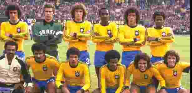 Seleção brasileira antes de jogo contra Itália, na decisão do 3º lugar da Copa de 1978 - Allsport UK /Allsport