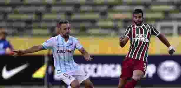 Dourado marcou o gol de empate do Fluminense no Equador  - Rodrigo Buendia/AFP