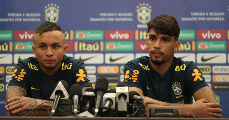Lucas Paquetá e Everton concedem entrevista coletiva no primeiro dia com a seleção brasileira