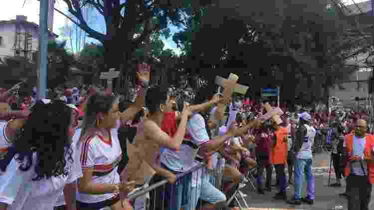 Torcida do SP protesta no Morumbi - Bruno Grossi/UOL - Bruno Grossi/UOL