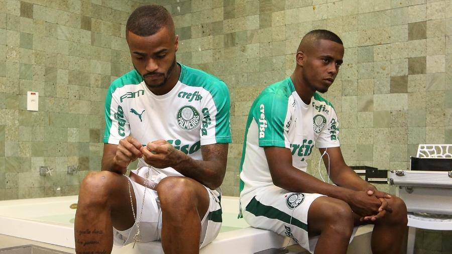 Carlos Eduardo e Felipe Pires ainda não empolgaram o Palmeiras - Cesar Greco/Ag. Palmeiras/Divulgação