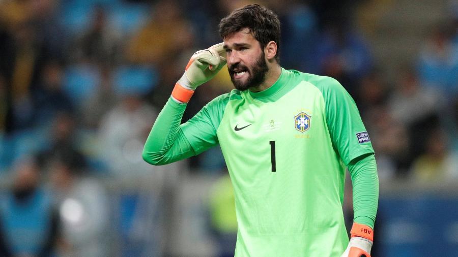 Alisson no jogo Brasil x Paraguai pela Copa América - REUTERS/Ueslei Marcelino