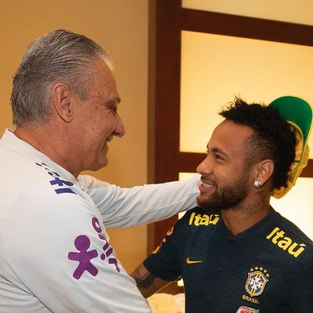 Neymar recebeu elogios do técnico Tite - Lucas Figueiredo/CBF