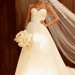 Carol Dias posta foto com seu vestido de noiva - Reprodução/Instagram