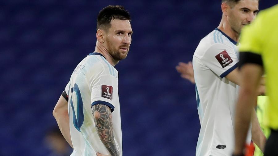 Lionel Messi, após empate entre Argentina e Paraguai - REUTERS/Juan Ignacio Roncoroni