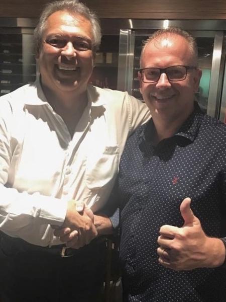 Guy Peixoto (esq) e Enyo Correia (dir), rivais na eleição da CBB - Divulgação/FPB