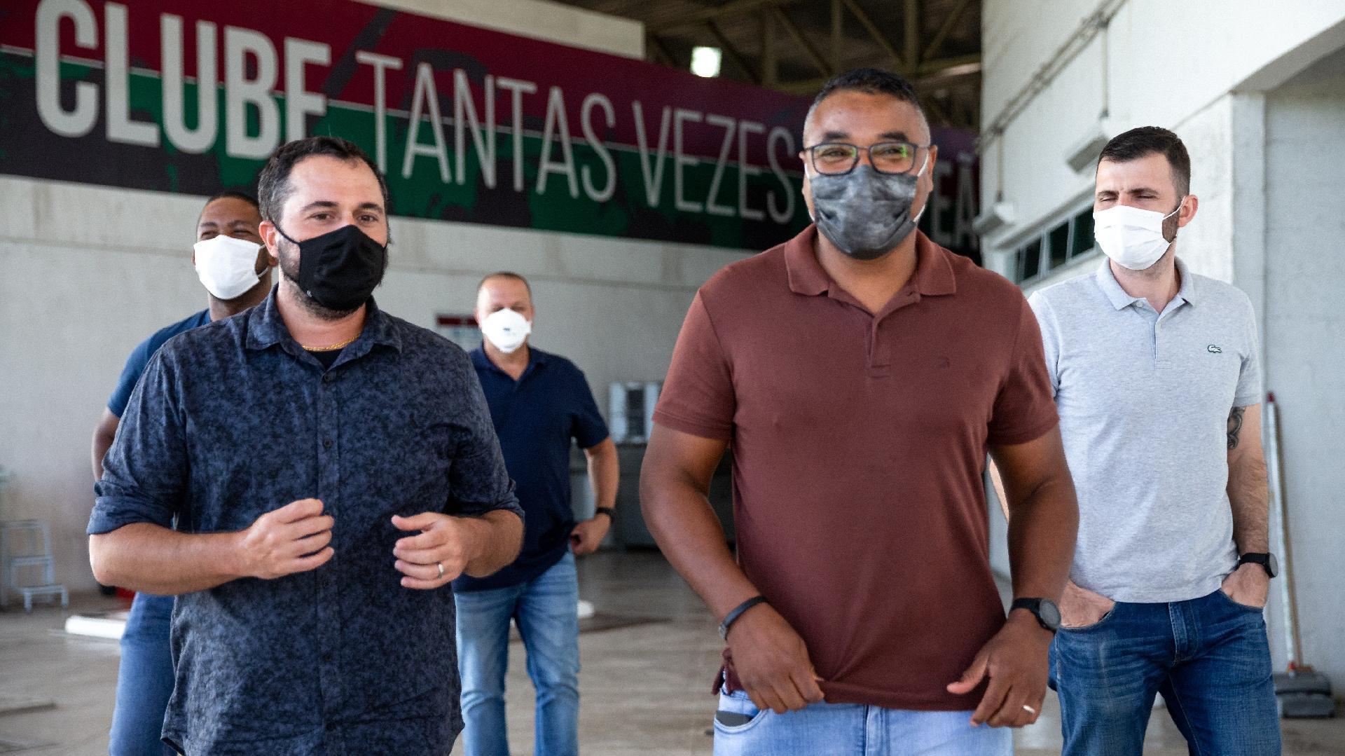 Roger Machado visita o CT do Fluminense