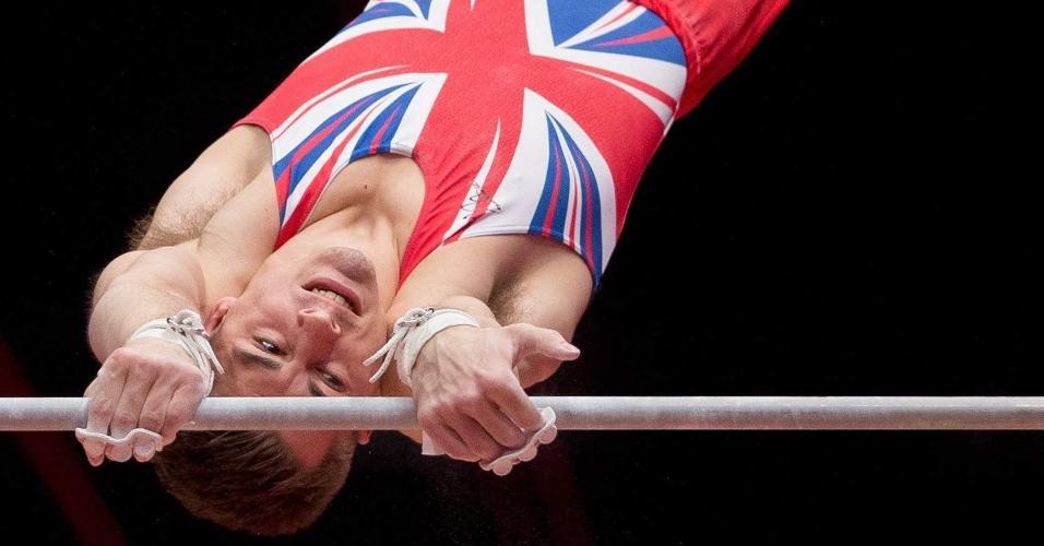 Max Whitlock, da Grã-Bretanha, apresenta-se nas classificatórias do Mundial de Ginástica
