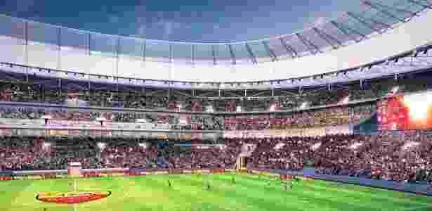 Visão de projeto do novo estádio da Roma - Reprodução - Reprodução