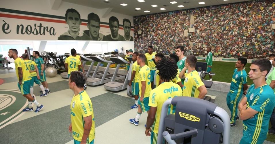 Área com aparelhos mais modernos na Academia de Futebol