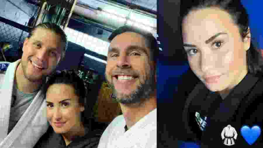 Demi Lovato treina jiu-jitsu com Brian Ortega, lutador do UFC - reprodução/Instagram