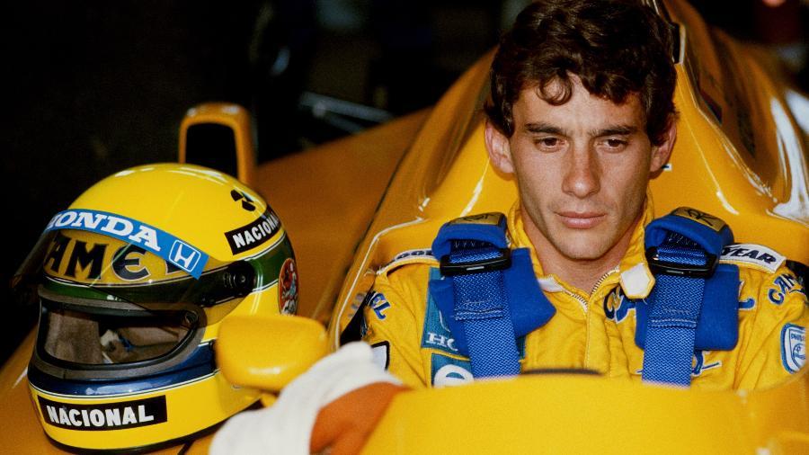 Ayrton Senna quando piloto da Lotus no GP do Brasil de 1987 - Simon Bruty/Getty Images
