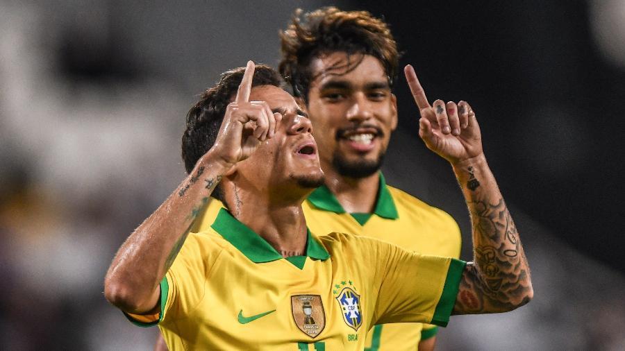 Seleção Brasileira durante amistoso - Pedro Martins / MoWA Press