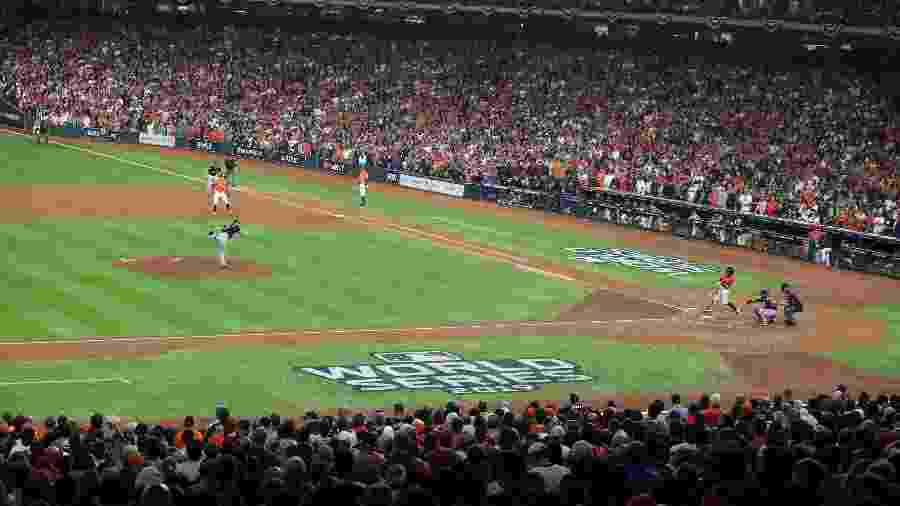 Washington Nationals e Houston Astros, durante partida da World Series, da Major League Baseball (MLB) - Thomas B. Shea-USA TODAY Sports