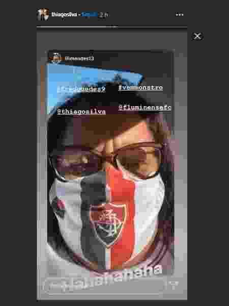 Tia de Thiago Silva faz coro à campanha da torcida do Fluminense por volta do zagueiro - Reprodução - Reprodução