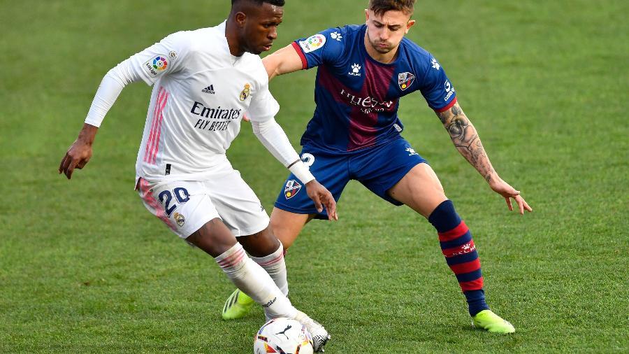Real Madrid enfrenta o Huesca pelo Campeonato Espanhol - Pau BARRENA / AFP
