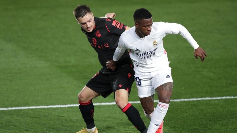 Vinícius Jr. marca e salva Real da derrota contra a Real Sociedad - Gonzalo Arroyo Moreno/Getty Images