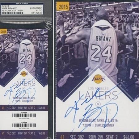 Ingresso do último jogo de Kobe na NBA foi arrematado em um leilão - Reprodução