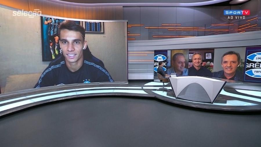 Ferreira celebra oportunidades com Tiago Nunes e projeta GreNal - Reprodução/SporTV