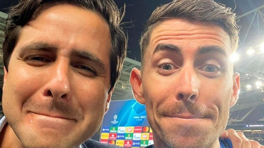 Repórter Fred Caldeira raspou bigode após título do Chelsea na Liga dos Campeões - Reprodução / TNT Sports Brasil