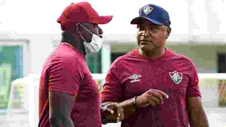 Roger Machado, técnico do Fluminense, conversa com Marcão - Mailson Santana / Fluminense FC - Mailson Santana / Fluminense FC