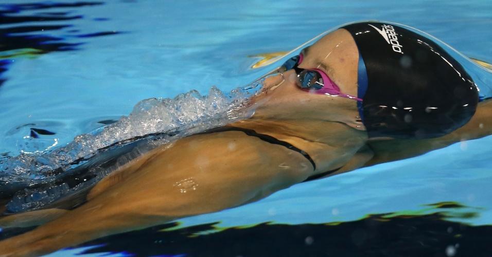 Natália Luccas nada a classificatória dos 100 m costas do Pan