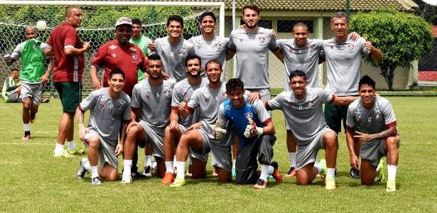 Jogadores do Fluminense treinam em Pernambuco