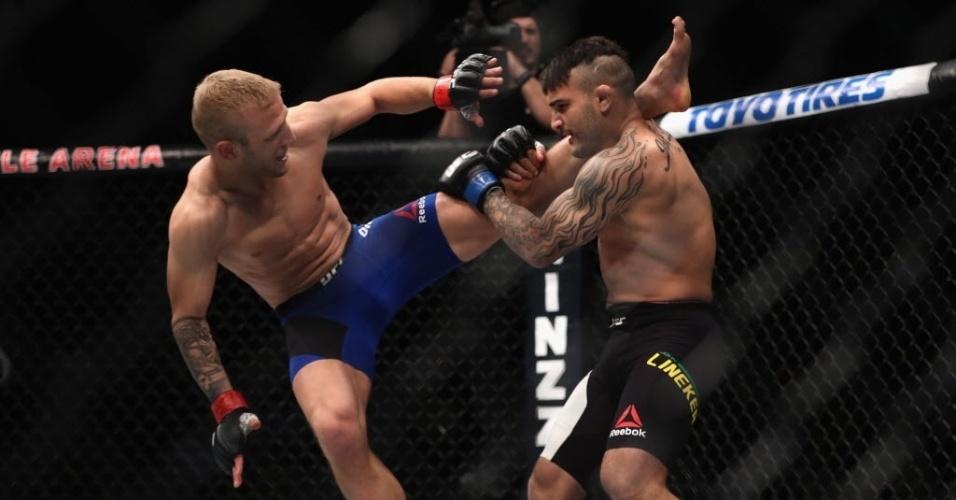 John Lineker enfrentou TJ Dillashaw pelo peso galo (61kg) no UFC 207