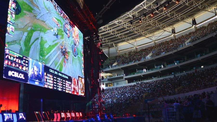 Em 2015, final do game League of Legends reuniu cerca de 12 mil pessoas no estádio do Palmeiras - Peu Robles/Folhapress