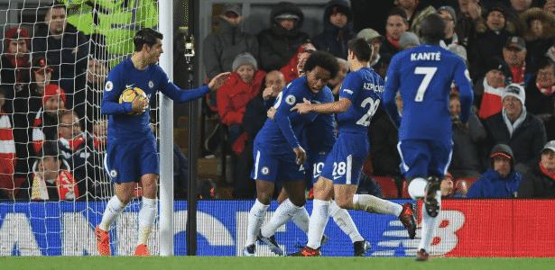 Willian comemora gol pelo Chelsea - Divulgação/Chelsea FC - Divulgação/Chelsea FC