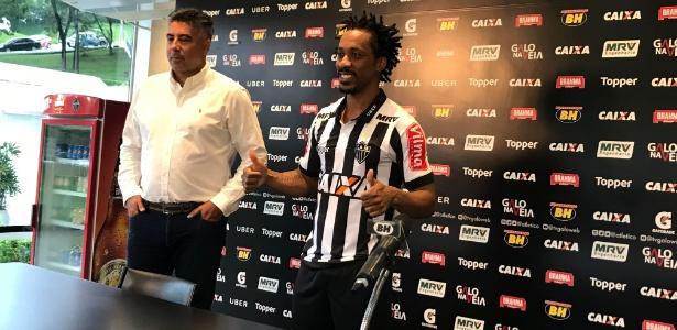 Apresentado pelo Atlético-MG, Arouca diz que está livre das lesões