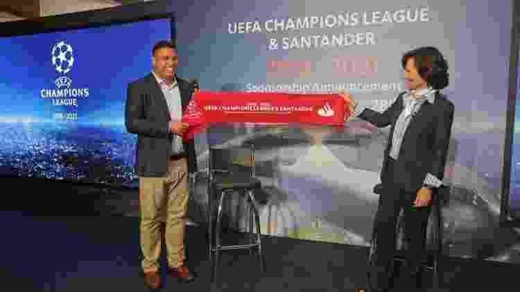 Ronaldo em evento do Santander - Divulgação - Divulgação
