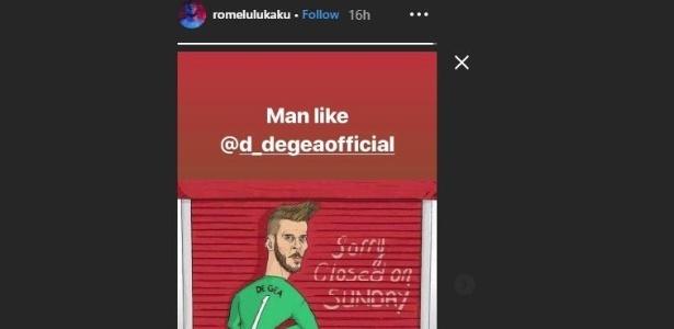 Lukaku publicou uma homenagem em sua conta no Instagram
