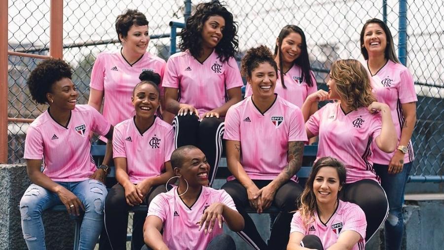 São Paulo e Flamengo lançam camisas rosa - Divulgação