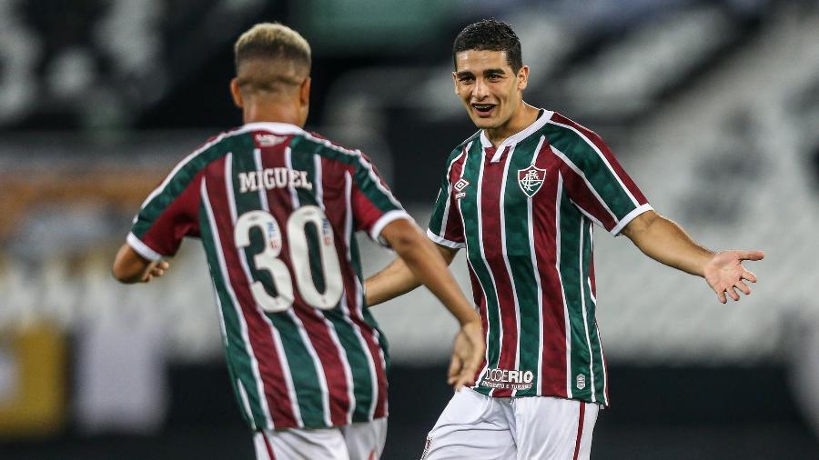 Uruguaio Michel Araújo fez o gol da vitória do Fluminense sobre o Botafogo em amistoso - Lucas Merçon / Fluminense F.C.