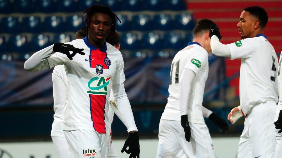 Kean marcou o gol do PSG contra o Caen - CHRISTOPHE PETIT TESSON/EFE