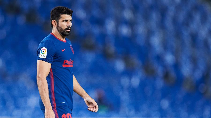 Diego Costa, durante partida pelo Atlético de Madri - Juan Manuel Serrano Arce/Getty Images