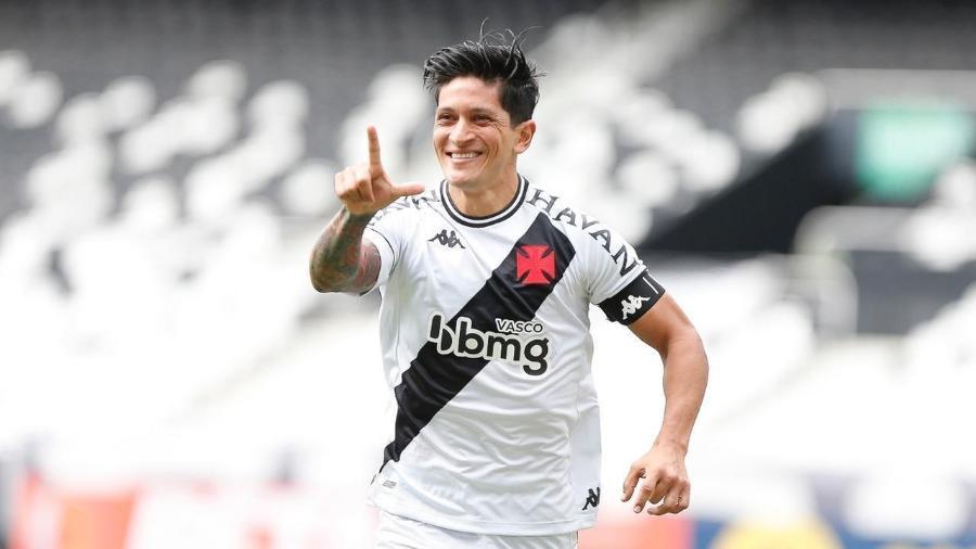 Germán Cano comemora gol sobre o Botafogo: atacante do Vasco também já marcou sobre Flamengo e Fluminense - Rafael Ribeiro / Vasco