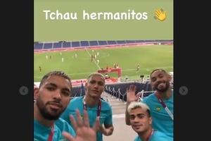 Jogadores do Brasil ironizam eliminação da Argentina: 'Tchau hermanitos'