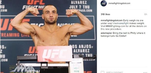 Alvarez espera dar trabalho a McGregor no chão - Reprodução/Instagram