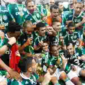 Palmeiras comemora o título do Brasileiro de 2016 após vitória sobre a Chapecoense - Marcello Zambrana/AGIF