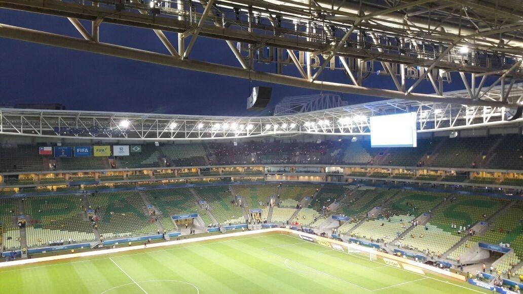 Allianz Parque terá mosaico com a inscrição #PartiuRussia em jogo da seleção brasileira