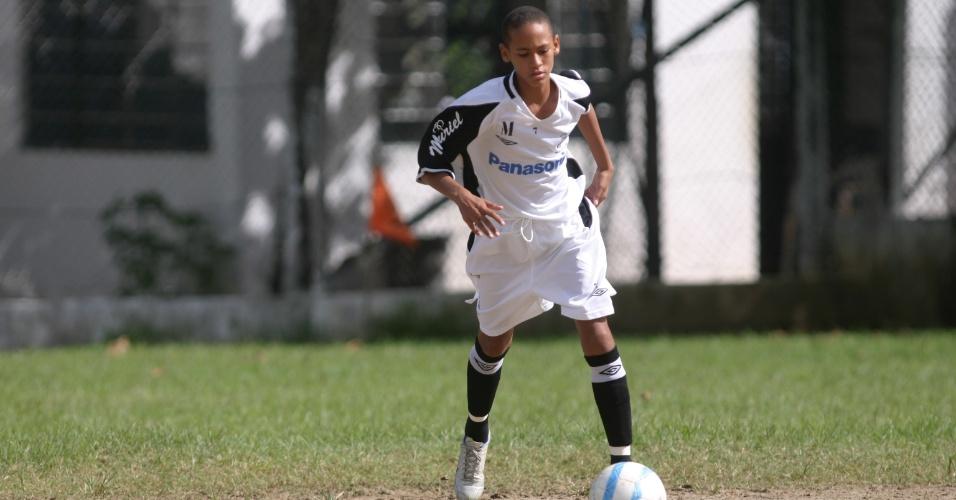 Neymar, em 2006, quando estava no sub-15 do Santos