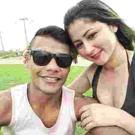 Raulian Paiva com Tieli Alves Medeiros: tragédia em 2018 - Acervo pessoal