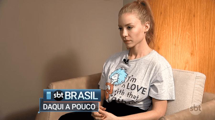 Najila Trindade, mulher que acusa Neymar de estupro, concedeu entrevista ao SBT - Reprodução/SBT