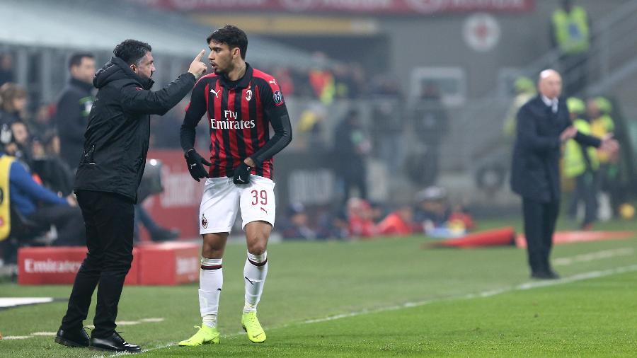 Lucas Paqueta conversa com Gennaro Gattuso - Marco Canoniero/LightRocket via Getty Images