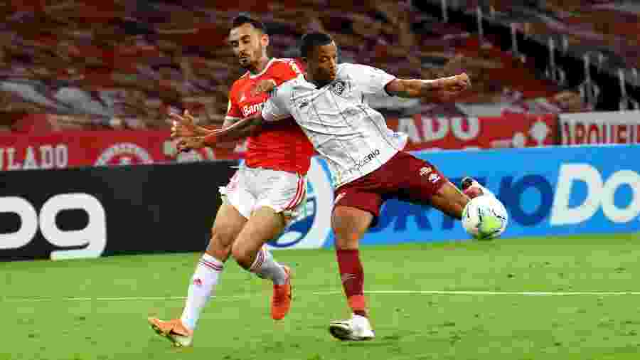 Caio Paulista marcou o gol da vitória do Fluminense sobre o Internacional - Mailson Santana/Fluminense FC
