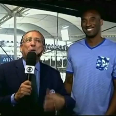 Galvão Bueno e Kobe Bryant - Reprodução/Instagram @galvaobueno