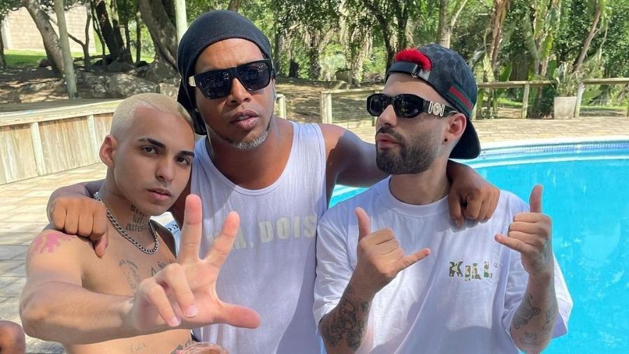 """Krawk e Kant serão os próximos participantes da """"Tropa do Bruxo"""", projeto de Ronaldinho Gaúcho  - Reprodução/Instagram-Krawk"""
